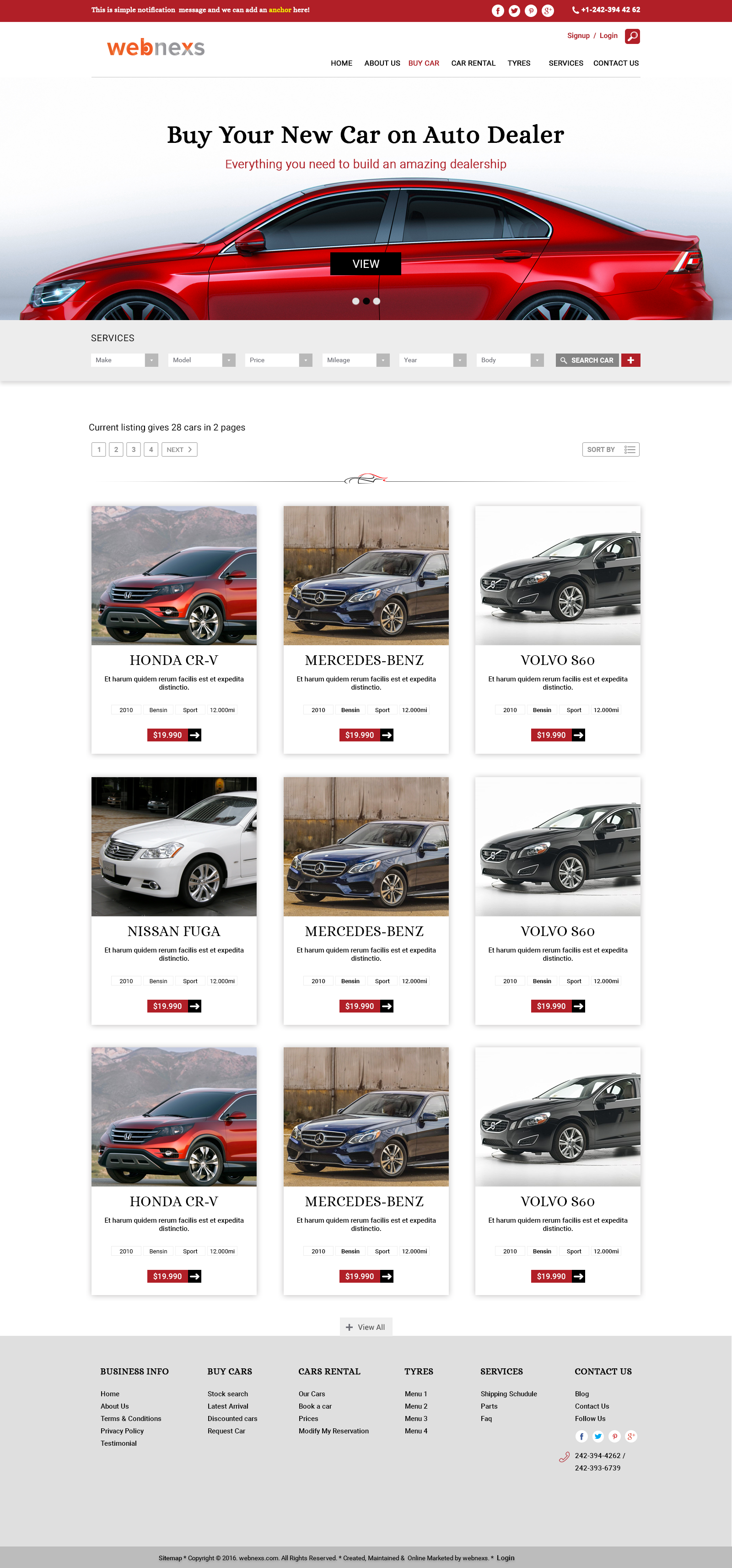 Design car rental system