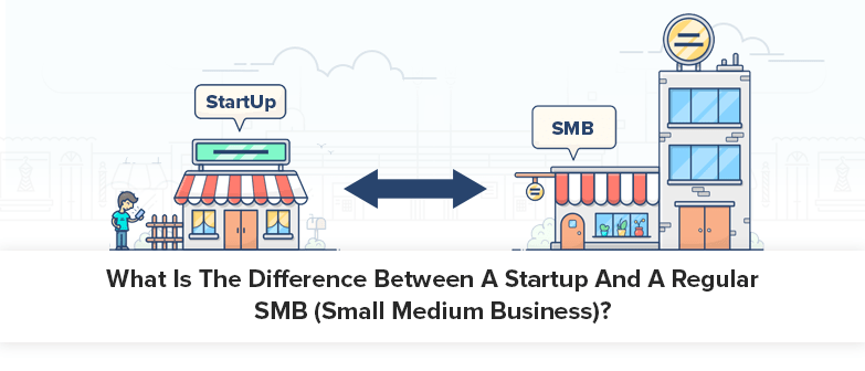 What is the difference between a startup and small medium business?