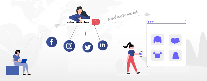 Impact of social media in online marketplace business